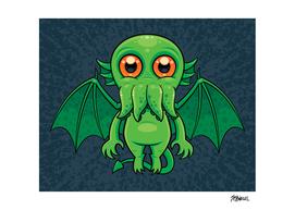 Cute Green Cthulhu Monster