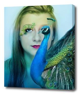 woman peacock