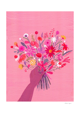 Babe with Bouquet Pink