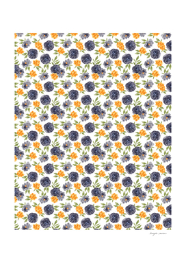 Yellow Blue Floral pattern