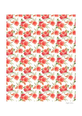 Red Rose Floral Pattern