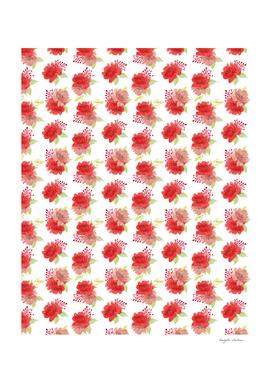 Red Rose Floral Arrangement Pattern