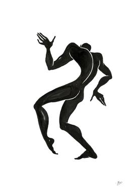 Ecstatic dancer. Contemporary dance  series 5.