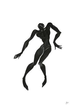 Ecstatic dancer. Contemporary dance  series 4.