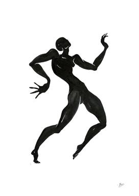 Ecstatic dancer. Contemporary dance  series 3.