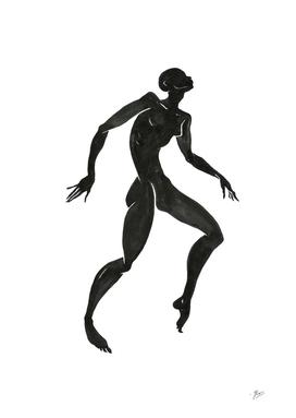 Ecstatic dancer. Contemporary dance  series 1.