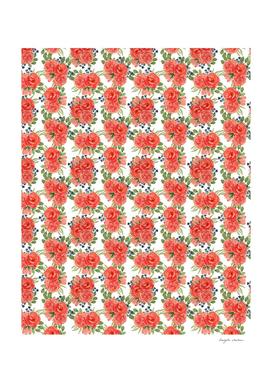 Rose Floral Arrangement Pattern