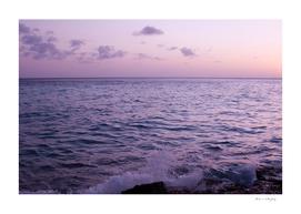 Pastel Caribbean Sunset Ocean Dream #1 #wall #decor #art