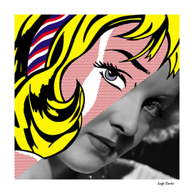 Roy Lichtenstein's Ribbon Girl & Bette Davis