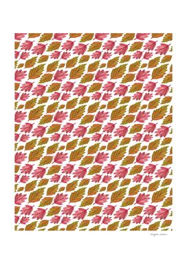 Cool Autumn leaves pattern