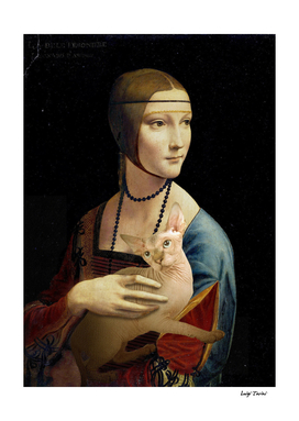 Lady with a Sphynx Cat