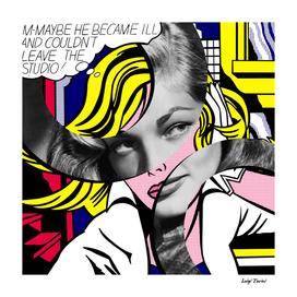 Roy Lichtenstein's M...Maybe and Lauren Bacall
