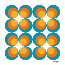 70s 60s  circle psychadelic geometric pattern