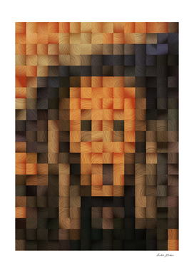 The Scream Wood Mosaic