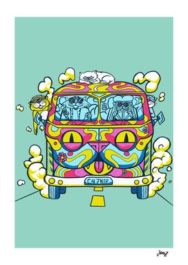 Hippie Cat Van
