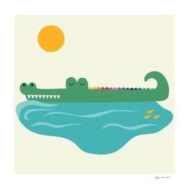 The bliss of the crocodile!