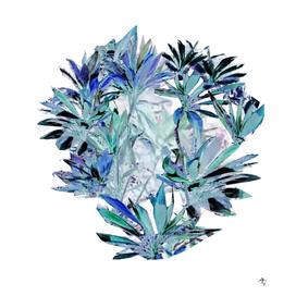 Tropical plants dance  tropics  refined pattern