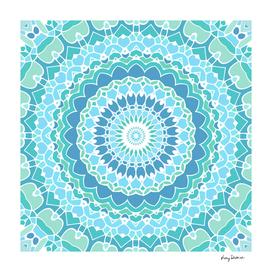 Tranquility Green and Blue Mandala