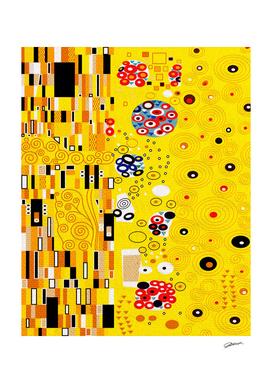 "Golden pattern ""The Kiss"" by Gustav Klimt"