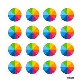Color wheel pattern geometic art