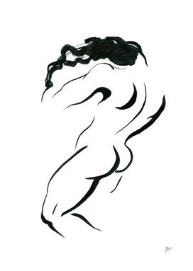 Corporeality. Ink graphic