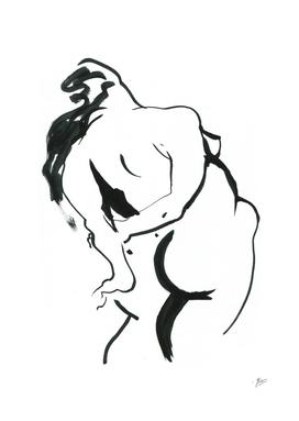 Body. Female silhouette.