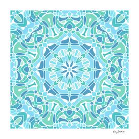 Serene Green and Blue Mandala