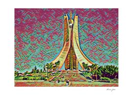 Algeria Martyrs' Memorial Artistic Illustration Mixed