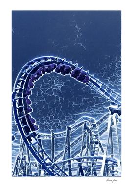 Argentina Parque de la Costa Roller Coaster Artistic