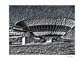 Brazil Niterói Contemporary Art Museum Artistic Illus