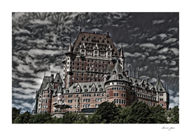Canada Château Frontenac Artistic Illustration Rough