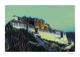 China Potala Palace Artistic Illustration Swamp Style