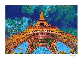 France Tour Eiffel Artistic Illustration Bipolar Pain
