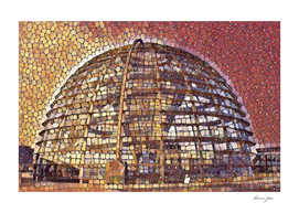 Germany Reichstag Dome Artistic Illustration Retina S