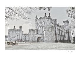 Ireland Kikenny Castle Artistic Illustration Pencil S