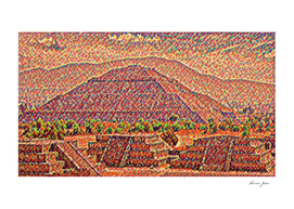 Mexico Teotihuacan Artistic Illustration Candies Styl