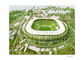 South Africa Soccer City Artistic Illustration Nature