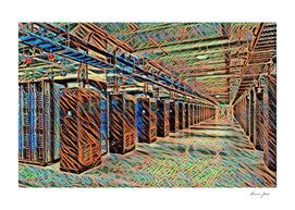 Sweden Luleå Facebook Data Center Artistic Illustrati