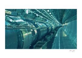 Switzerland Cern Large Hadron Collider Artistic Illus