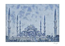 Turkey Hagia Sophia Artistic Illustration Raw Cloth S
