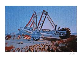 Ukraine Bagger 228 Artistic Illustration Classic Mach