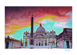 Vatican City Artistic Illustration Crazy Style