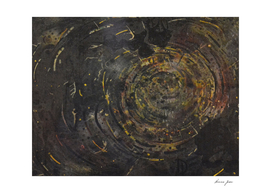 Black hole abstract painting dirt dust