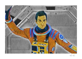 2001 A Space Odissey Artistic Illustration Vibrant Pa