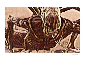 Alien Angry Monster Artistic Illustration Slush Style