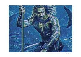 Aquaman Sea Creature Illustration Water Style
