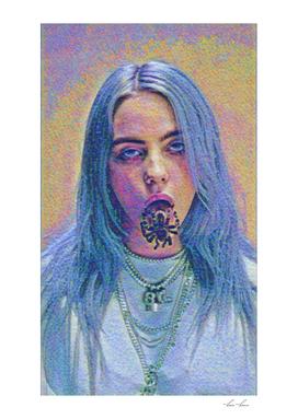Billie Eilish Creepy Artistic Illustration Acid Point