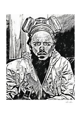 Breaking Bad Jesse Pinkman Artistic Illustration Mang