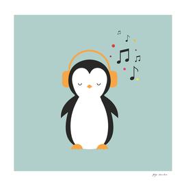 Penguin loves magical music