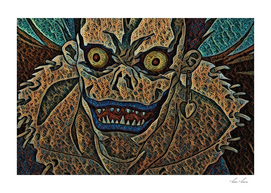 Death Note Ryuk Artistic Illustration Fractal Loop St